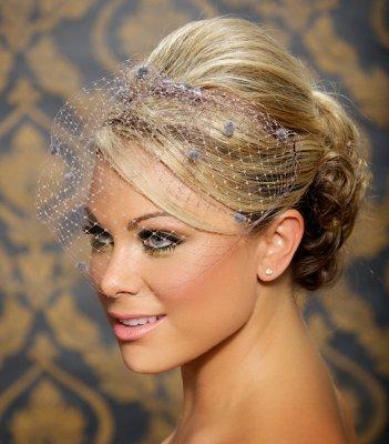 Menyasszonyi frizura fátyollal 2 , Bridal hairstyles with veil 2 Forrás:http://www.etsy.com
