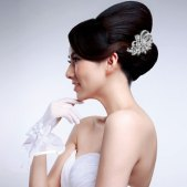 Menyasszonyi frizura ,hosszú barna hajból 11, Bridal long brown hair 11 Forrás:http://www.etsy.com