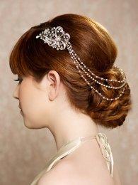 Menyasszonyi frizura ,hosszú barna hajból 16, Bridal long brown hair 16 Forrás:http://www.etsy.com