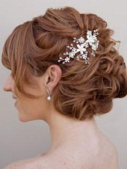 Menyasszonyi frizura ,hosszú barna hajból 6 Bridal long brown hair 6 http://www.haircomesthebride.com