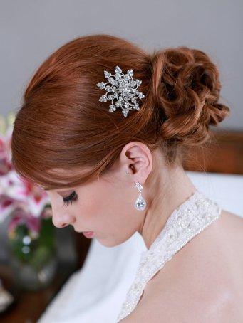 Menyasszonyi frizura ,hosszú vörös hajból 2 , Bridal long red hair 2 Forrás:http://www.etsy.com