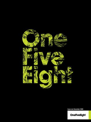 1st edition of OneFiveEight magazine