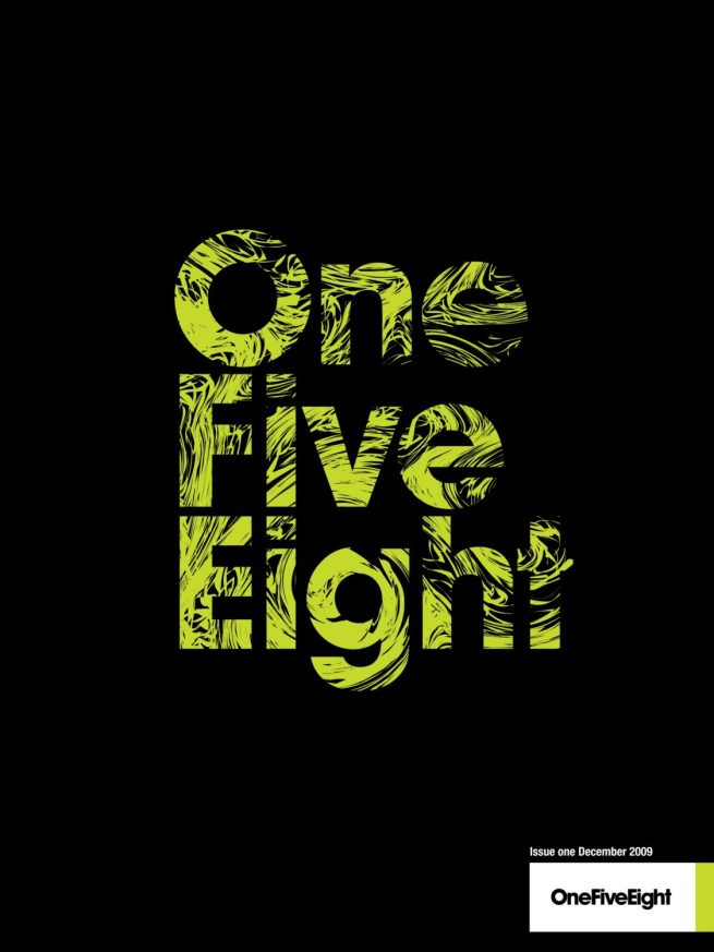 1st edition of OneFiveEight magazine