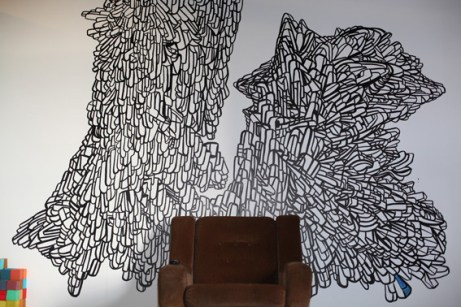 Hand drawn wall art