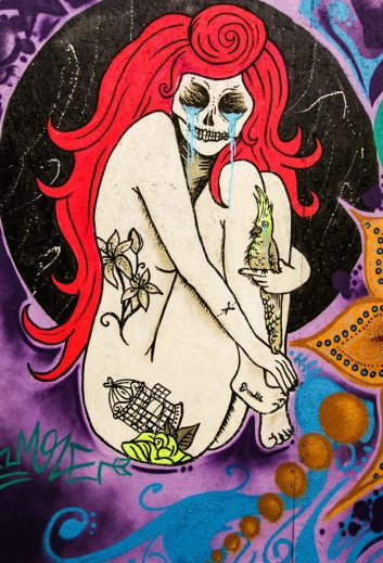 Street art mural at Audio Farm Festival 2013