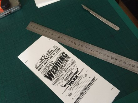 Use crop marks to ensure each can be cut to a set size