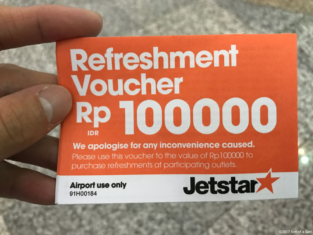 Bali All The Way Day 4 Water Sports Singapore One Flight Out Voucher Shell Rp 100000 Refreshment Issued By Jetstar As Part Of Compensation Offer