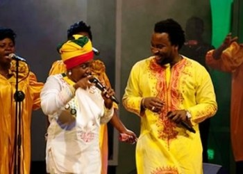 Gospel artiste Ohemaa Mercy and Sonnie Badu