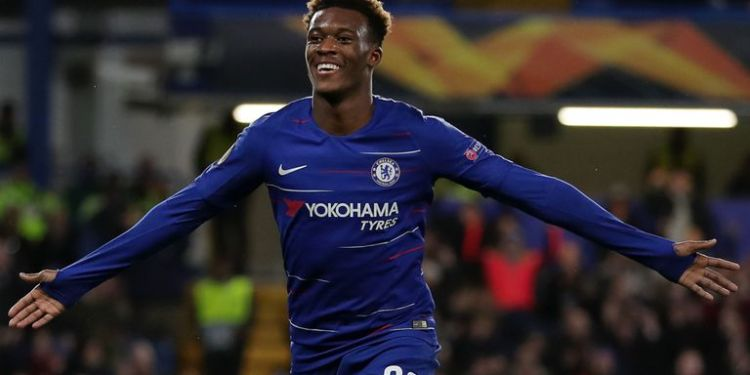 Hudson-Odoi was on target for the Blues