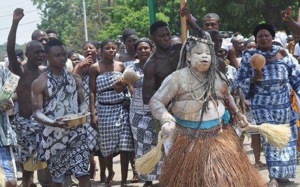 Otumfuo's 20th anniversary celebrations: 250 river gods assemble at Manhyia
