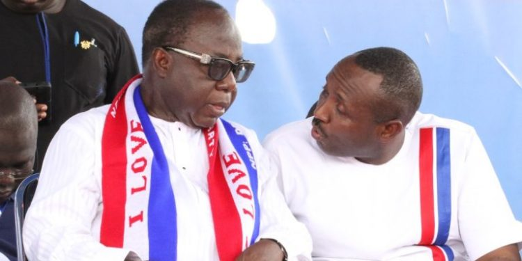 Mr. Freddie Blay (L) and John Boadu at NPP conference