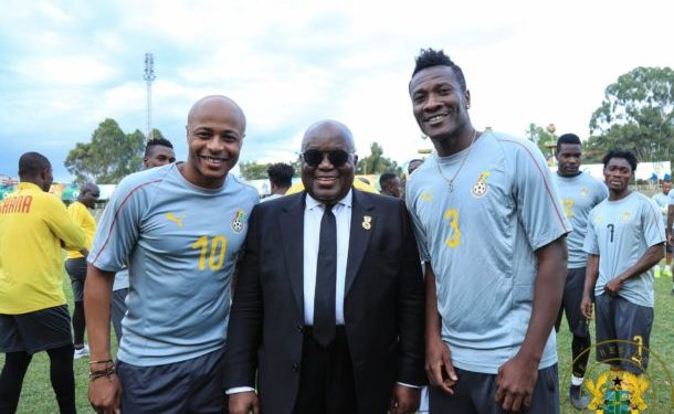 Asamoah Gyan and his deputy Andre Ayew met with President Akuffo Addo about the bonuses