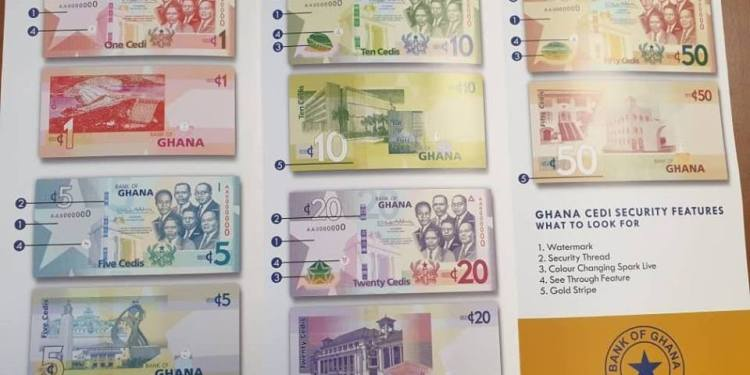 The denomination to be affected are the 10, 20 and 50 cedi notes