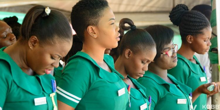 The nurses have called on Ghanaian men to be courageous