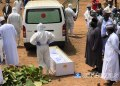 The remains of the late Chief of Staff to President Muhammadu Buhari, Mr Abba Kyari, being laid to rest at the Gudu Cemetery in Abuja. Sodiq Adelakun/ChannelsTV April 18, 2020.