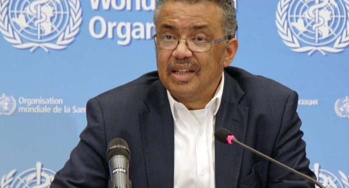 (200204) -- BEIJING, Feb. 4, 2020 (Xinhua) -- Tedros Adhanom Ghebreyesus, director-general of the World Health Organization (WHO), speaks at a press conference after the WHO emergency committee's meeting on the novel coronavirus in China at its headquarters in Geneva, Switzerland, Jan. 22, 2020. (Xinhua/Liu Qu)