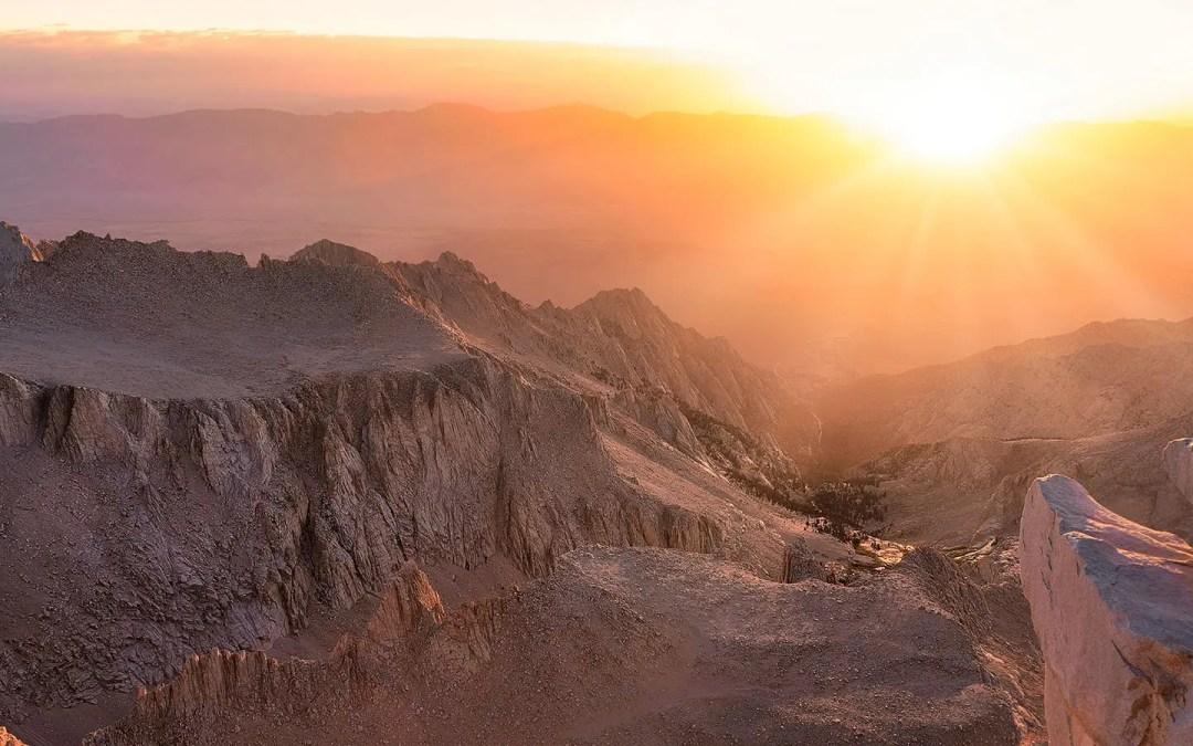 High Sierra Trail Day 7 – Guitar Lake, Summiting Mt Whitney, on to Whitney Portal