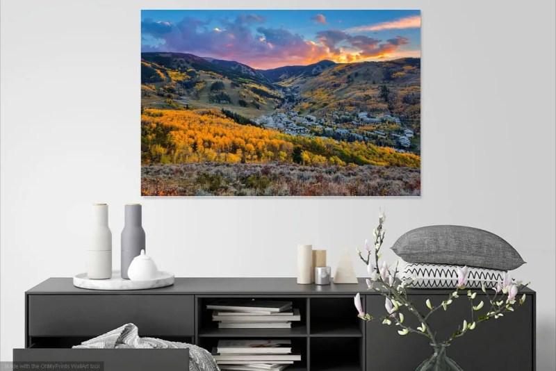Fall Sunset at Beaver Creek Colorado Fine Prints Wall Art