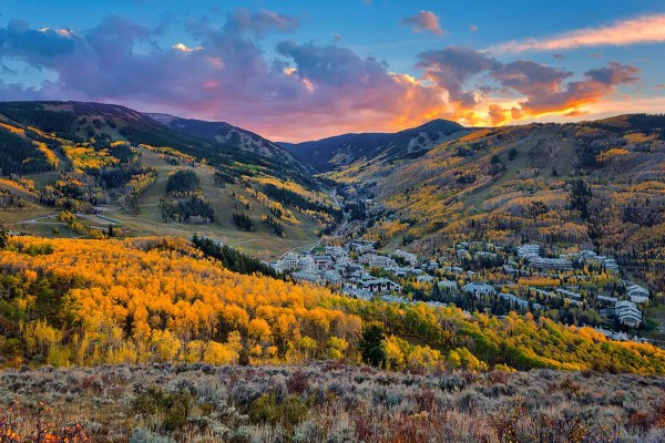Fall Sunset at Beaver Creek Colorado Fine Prints Wall Art