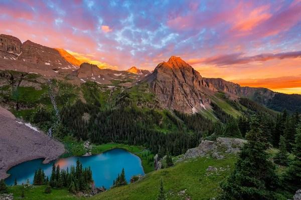 Blue Lakes Sunrise Colorado Fine Prints Wall Art