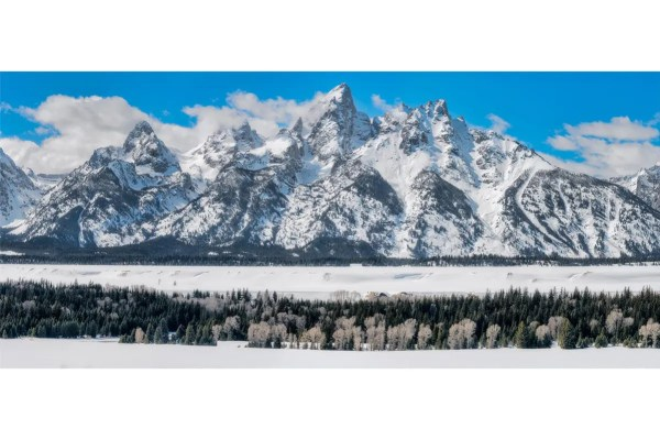 Teton Winter Panorama Shop Fine Prints Wall Art