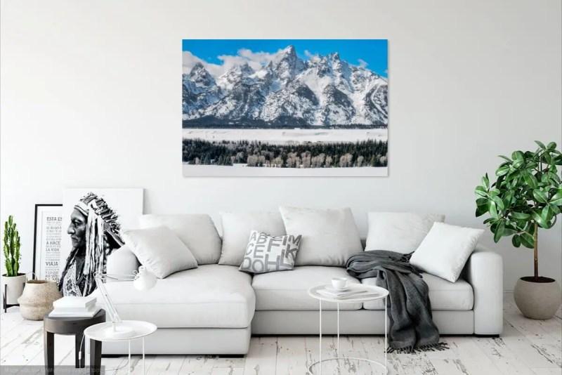 Winter in Grand Teton National Park Wyoming Fine Prints Wall Art