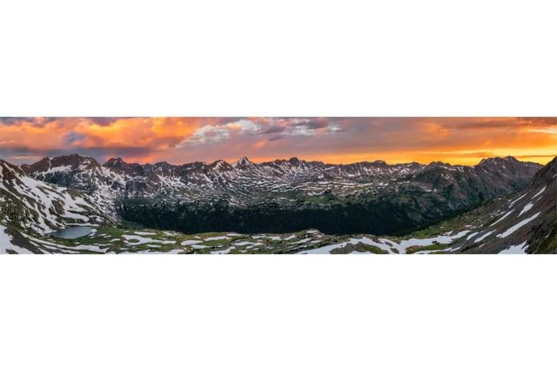 Sawatch Sunrise Panorama Colorado Shop Fine Prints Wall Art