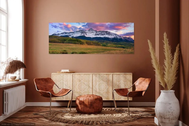 MT Wilson Peak Telluride Colorado Panorama Shop Fine Prints Wall Art