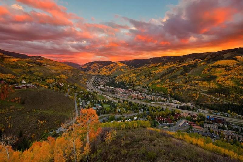 Vail Fall Sunset Colorado Fine Prints Wall Art