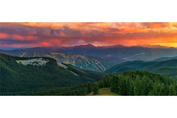 Vivid Vail Sunset Panorama Colorado Shop Fine Prints Wall Art