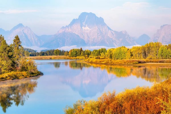 Oxbow Bend Fall Morning Grand Teton National Park Wyoming