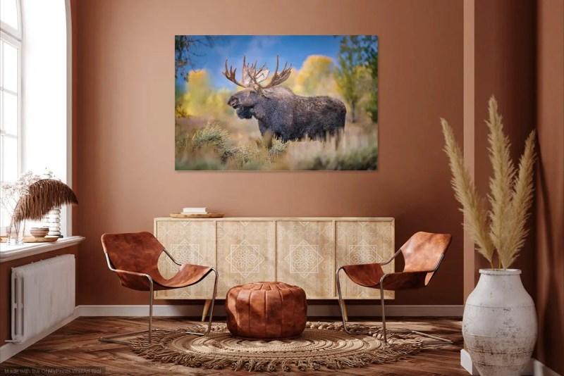 Shoshone Bull Moose Jackson Hole Wyoming Mockup