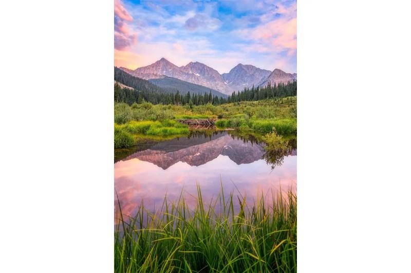 Three Apostles Reflection Collegiate Peaks Wilderness Colorado