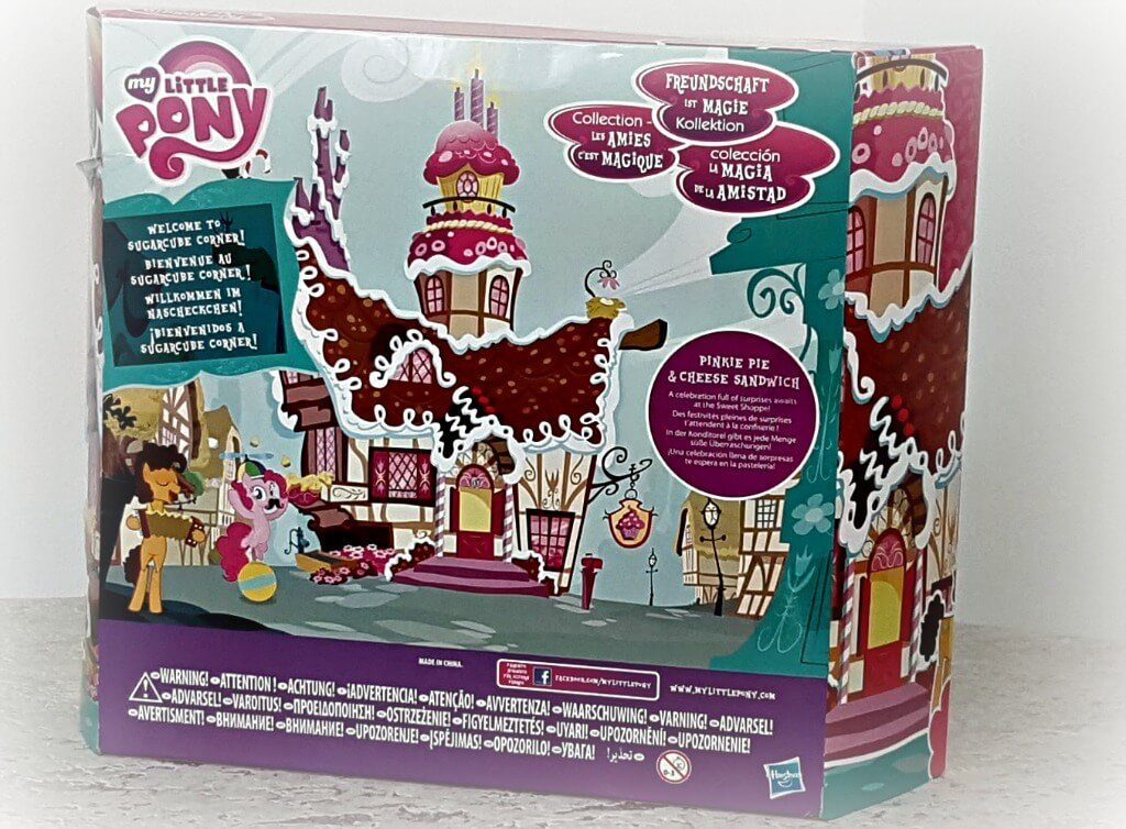 my little pony sugarcube corner review back of unopened box