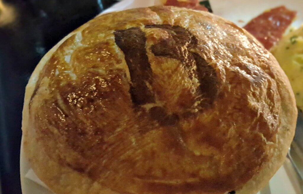 sampling the new menu at browns bar & brasserie puff pastry with the initial b on top