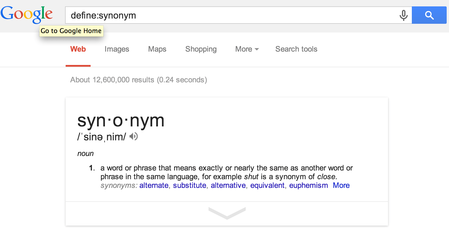 New Synonym For Exactly The Same