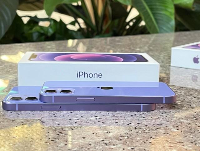 iPhone 12 紫色與iPhone 12 mini紫色