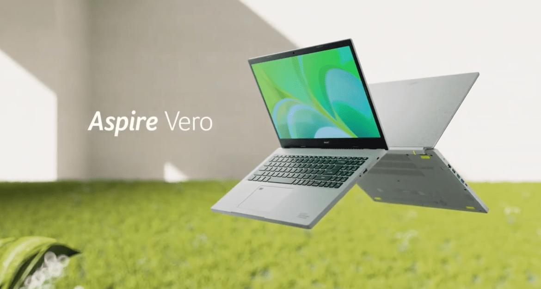 宏碁發表首款環保材質筆電Aspire Vero 宣示2035年使用100%再生能源