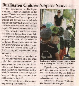 burlington childrens space article complete