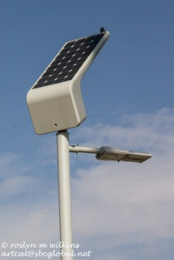 Lights have their own solar panels