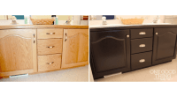 "Bathroom Cabinets Makeover - My First ""Grown-Up"" DIY ..."