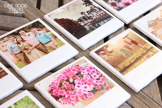 "DIY ""Polaroid"" Photo Coasters  One Good Thing by Jillee"
