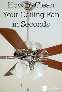 How to Clean Your Ceiling Fan in Seconds  One Good Thing ...