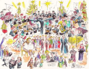 Trinity Methodist Clitheroe Joy to the World service 2012 illustration