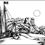 Pirate ship picture to colour