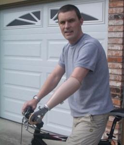 Riding my Mountain Bike