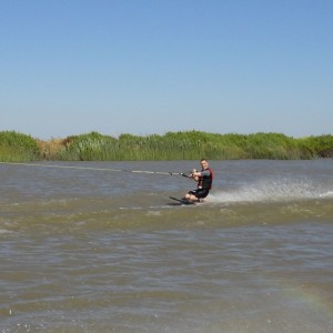 One Handed Knee Boarding