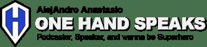 Logo header for one hand speaks
