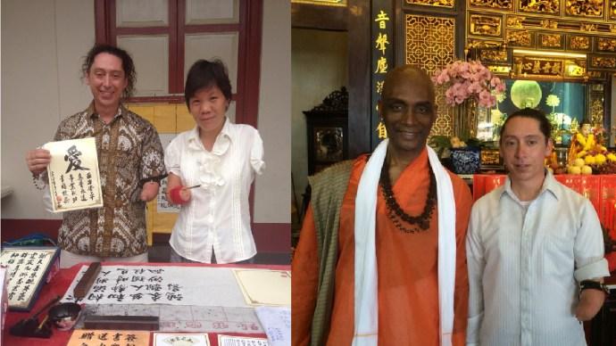 Calligraphy, Disability, Vedic Hindu, Malaysia, Melaka, International Solo Travel, Friends
