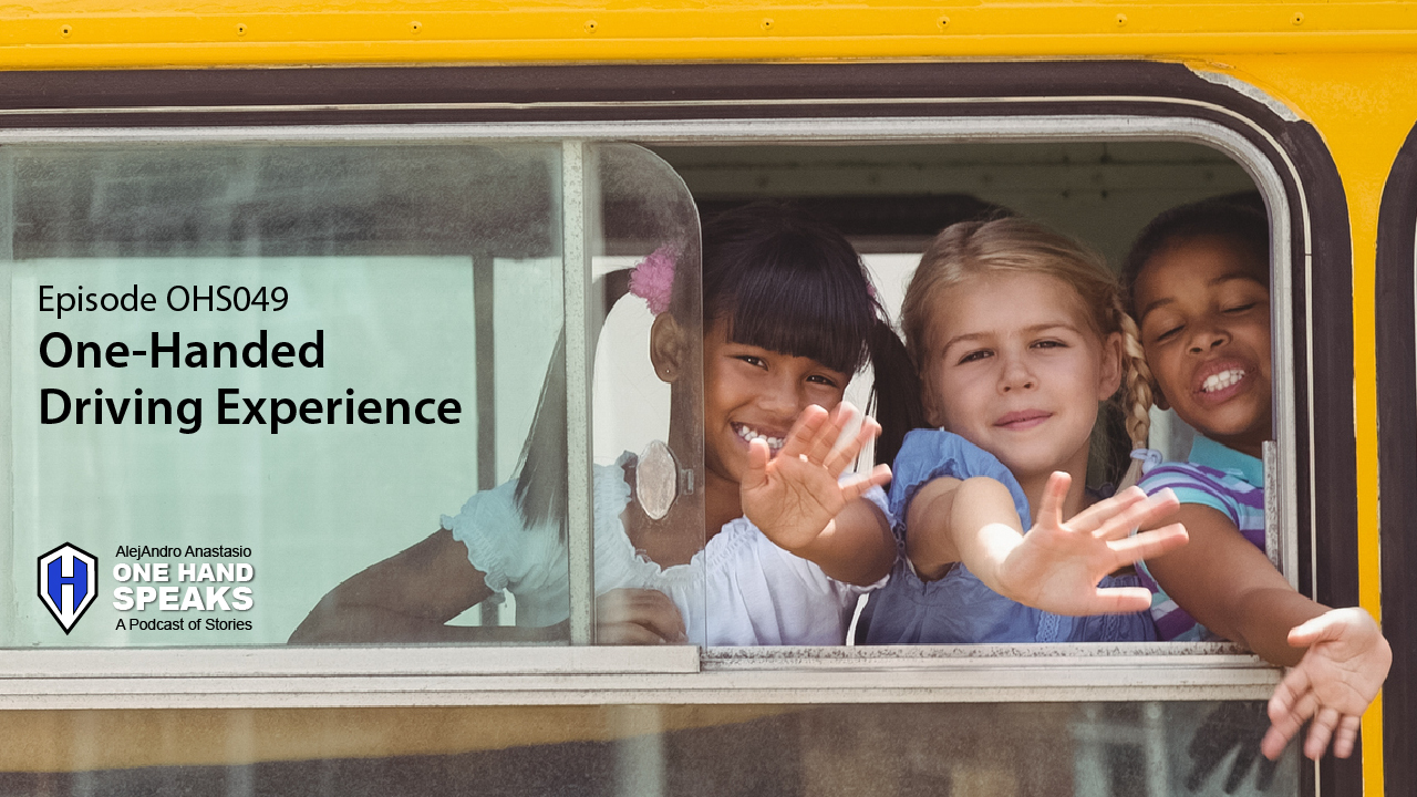 school bus, school kids, riding the bus, one hand, one-handed, fun with kids